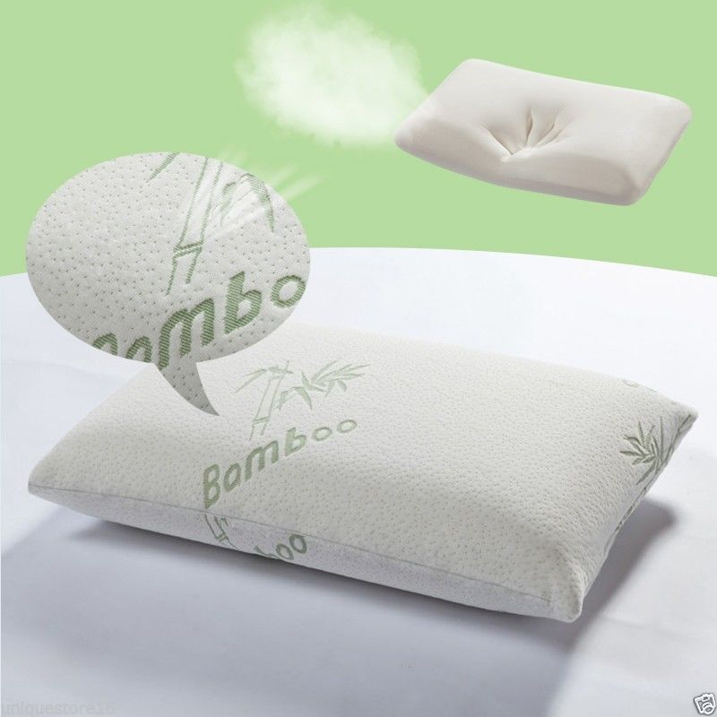 Memory Foam Pillow With Removable Bamboo Cover